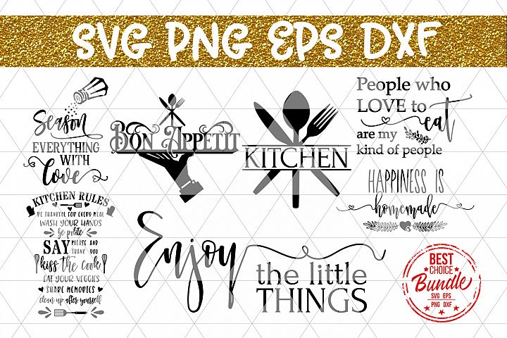 Kitchen Bundle SVG File, Kitchen Sign Sayings DXF PNG EPS