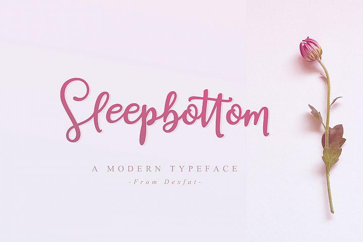 Sleepbottom | A Modern Typeface