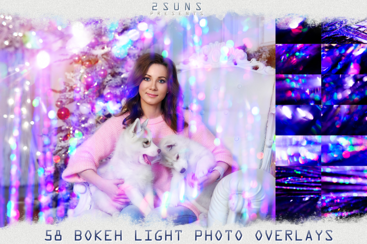 Bokeh photo overlays christmas, wedding sparkles, digital