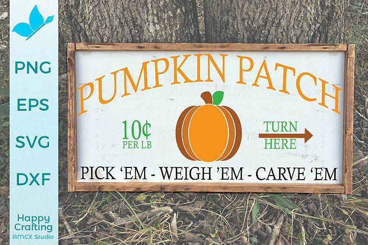 Pumpkin Patch - Fall Decor Craft File