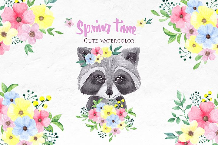 Cute spring. Animals portraits