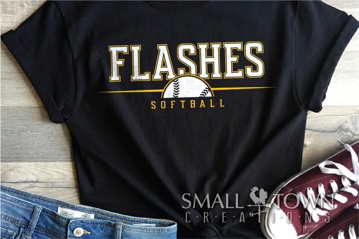 Flashes Softball, Sports, Team, logo, PRINT, CUT & DESIGN