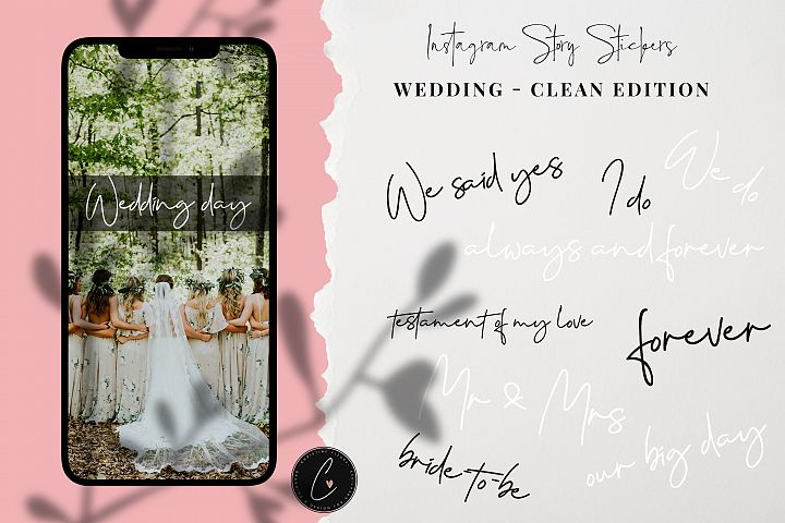 Wedding Instagram Story Stickers - Clean Collection