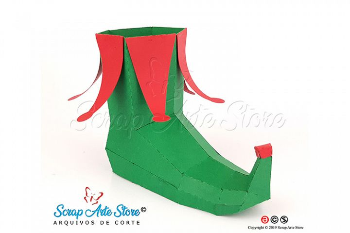 SVG to cut 3D Christmas Elf Boot