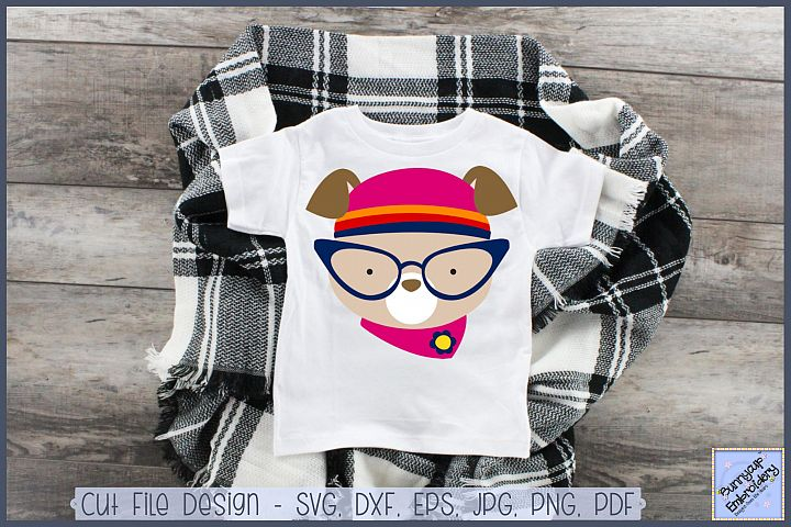 Hipster Dog - SVG, Clipart, Printable