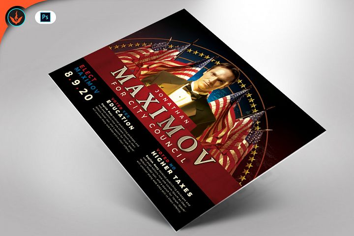 Political Flyer Photoshop Template 2