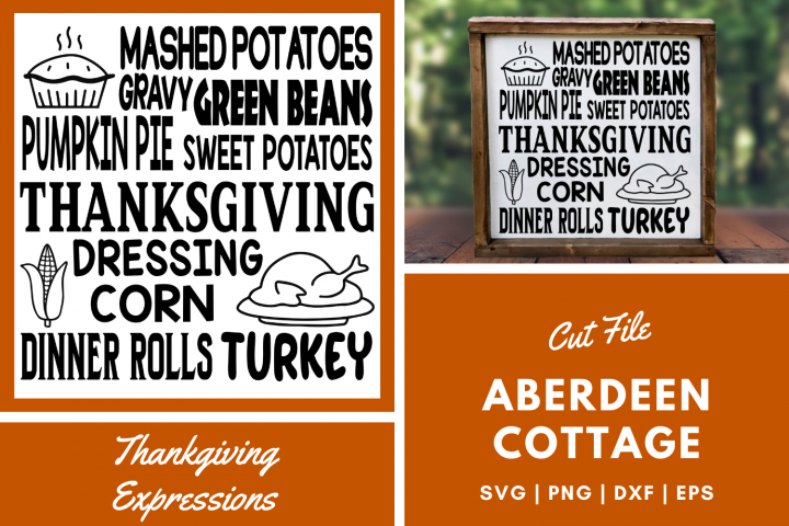 Thanksgiving Expressions SVG | PNG | EPS | DXF