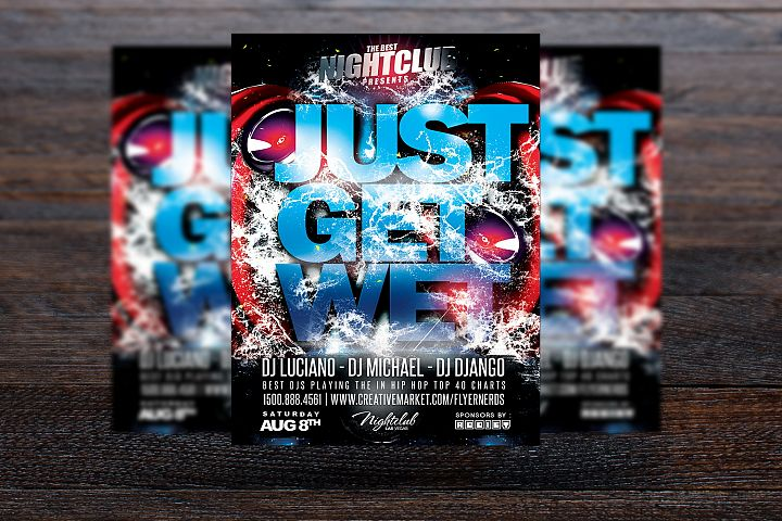Just Get Wet Party Flyer