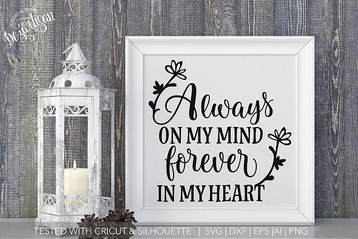 Love always near Memorial Bereavement SVG | DXF