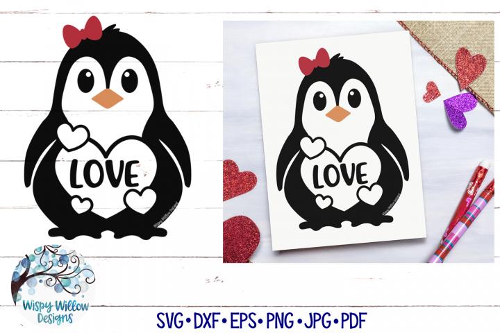Love Penguin SVG | Valentine Penguin SVG Cut File