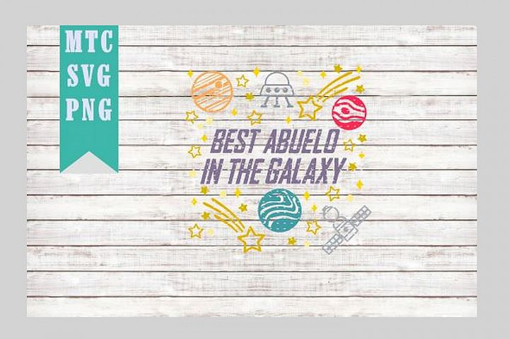 Best ABUELO in the Galaxy Design #01 SVG Cut file