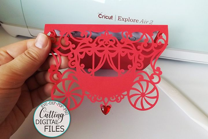 Princess 5x5 trifold envelope wedding invitation laser cut example image 6