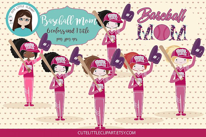 Baseball Mom clipart