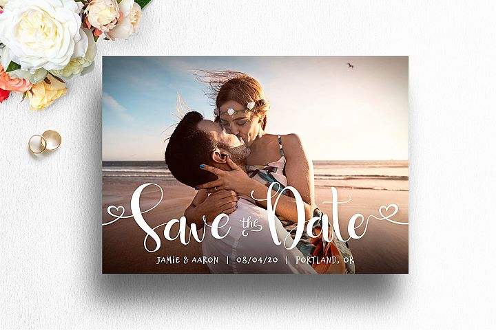 Save The Date Photo Card Template for Photog | 001
