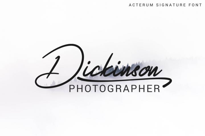 Acterum Signature Font - 26 Extra Swash example image 3
