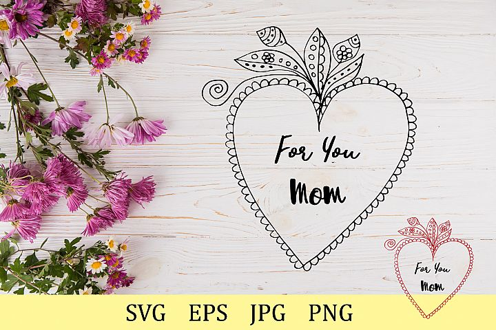 For you Mom - two colors of the heart
