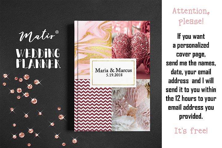 Wedding planner printable / personalization included