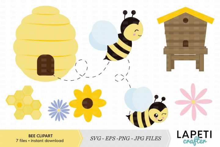 Bumble Bee clipart vector illustration