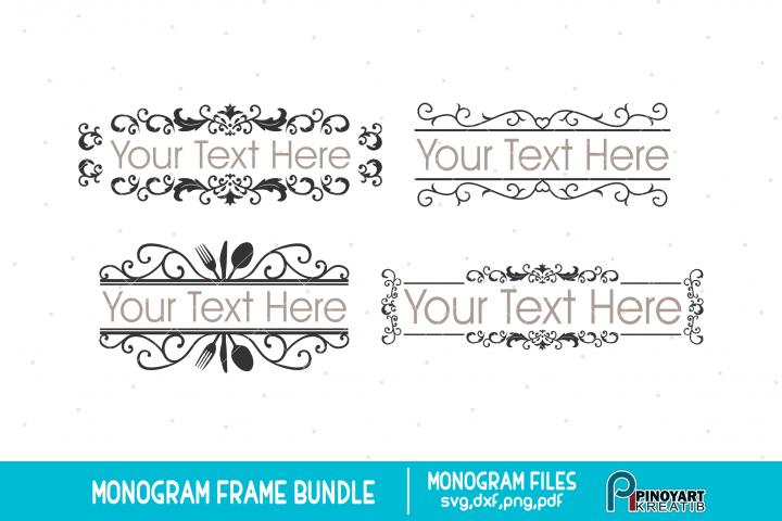 Monogram Frame svg Bundle - monogram frame svg vector files