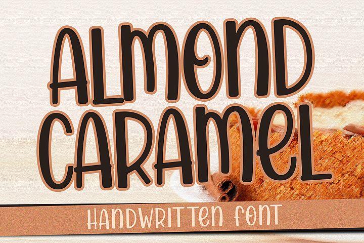 Almond Caramel - Handwritten Font