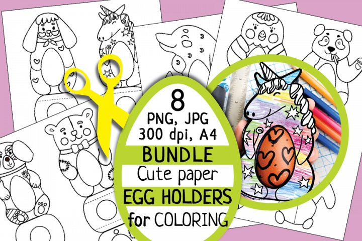 DIY Easter, Kids Craft, Egg Holder, DIY egg holder, coloring