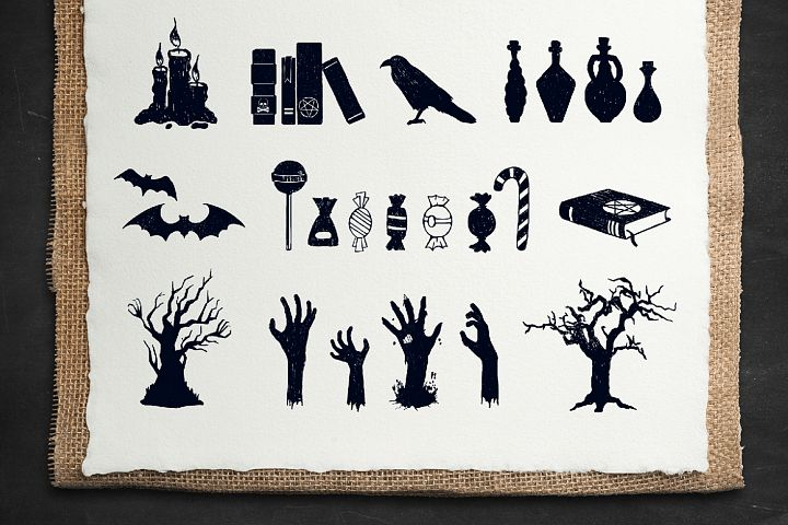 Halloween. 50 Hand Drawn Objects - Free Design of The Week Design 5