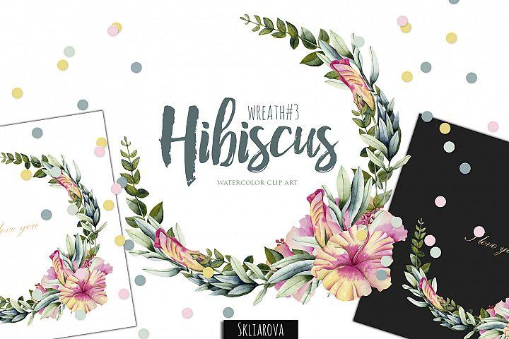 Hibiscus. Wreath #3