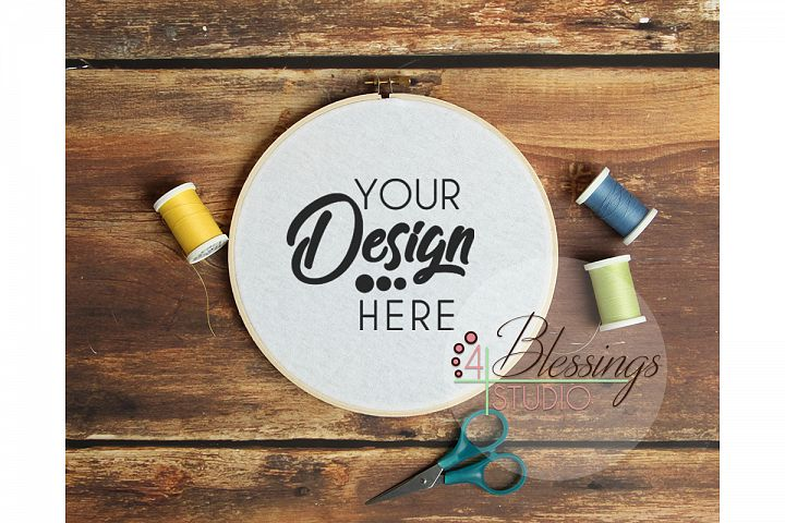 Embroidery Hoop Mockup Sewing Hoop Template Photo