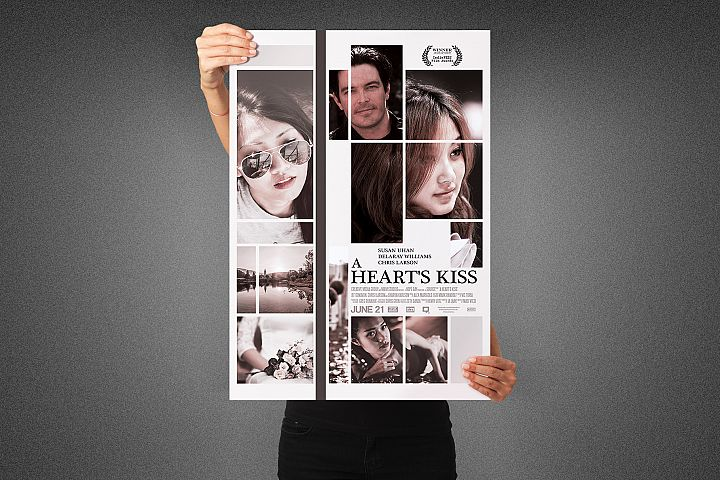 A Hearts Kiss Movie Poster Template