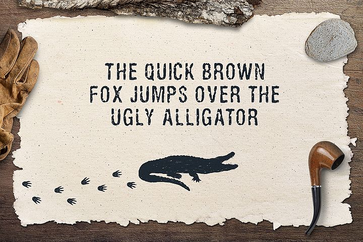 Ugly Alligator - Grunge Typeface - Free Font of The Week Design 1
