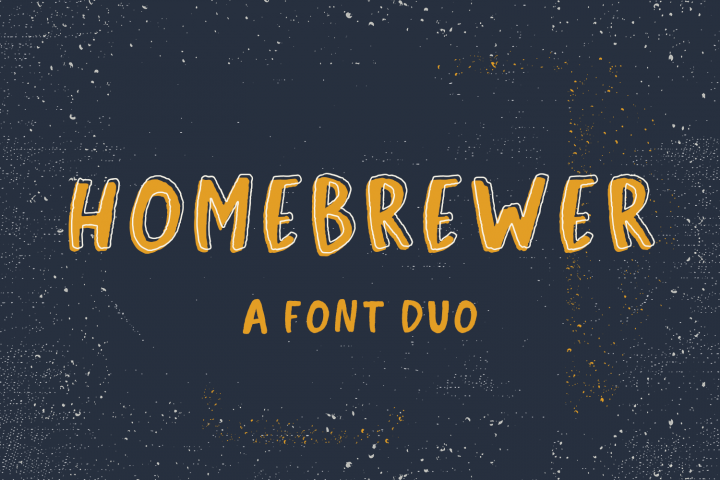 Homebrewer Sans and Outline Font Duo