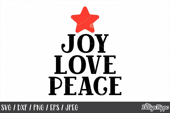 Christmas, Joy Love Peace SVG, Printable, PNG, DXF, Cut File