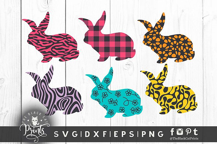 Easter Bunny clipart SVG DXF EPS PNG