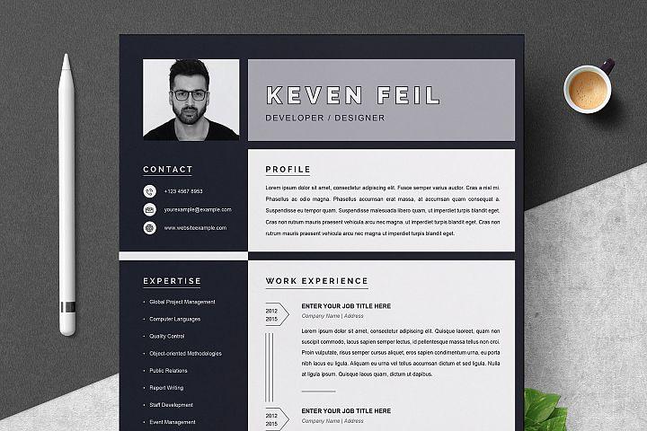 Resume / CV Template | Black and White