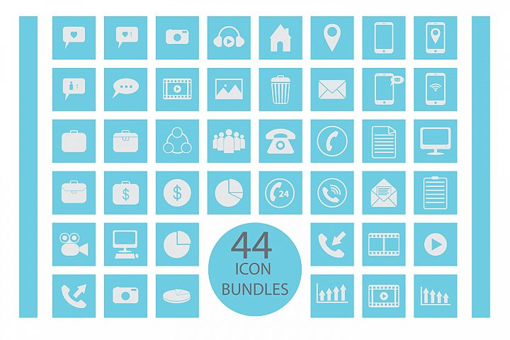 flat icon bundles vector pack