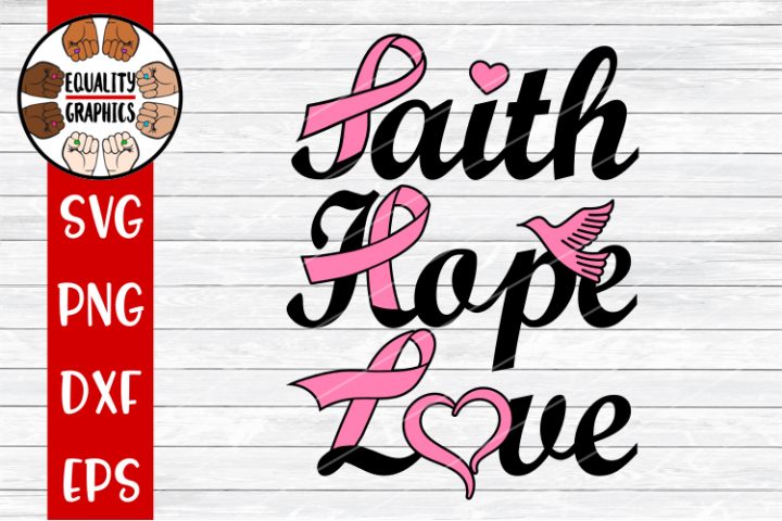 Cancer Faith Hope Love SVG | DXF | PNG