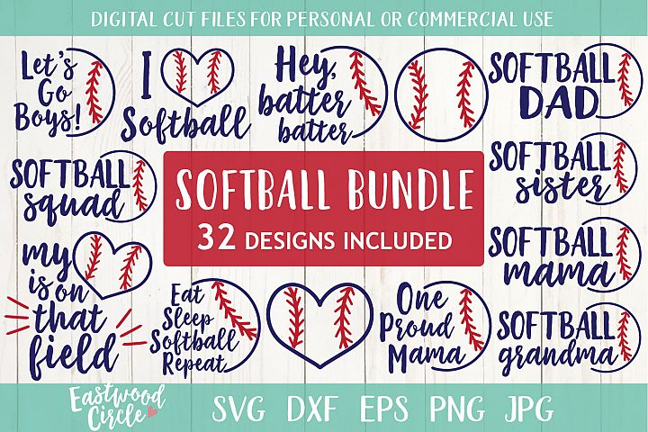 Softball SVG Bundle - Cut Files for Crafters
