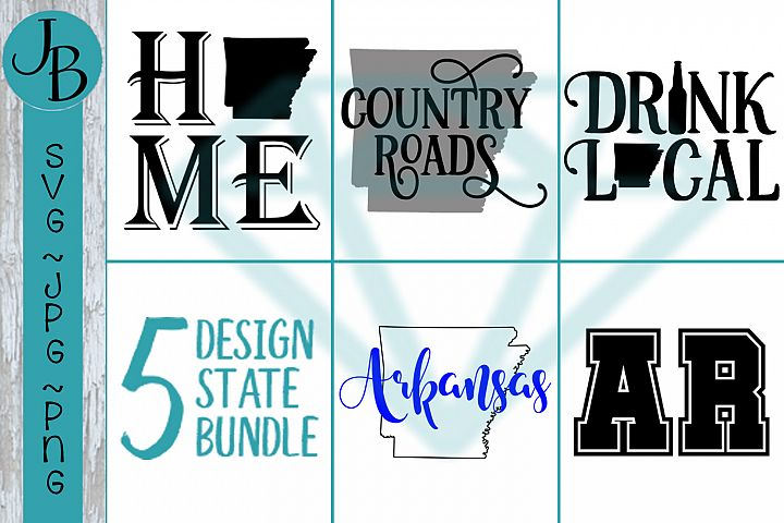 Arkansas State Pride Bundle, AR SVG Bundle