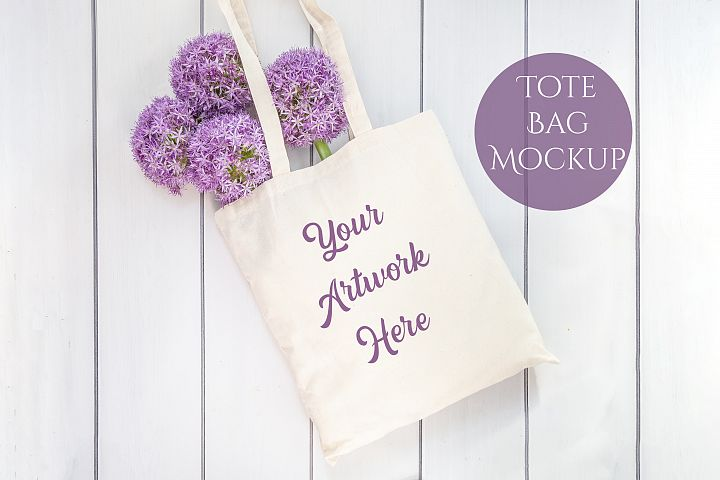 Tote Bag Mockup - Purple