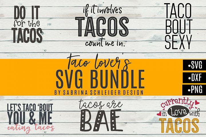 Taco SVG Bundle- SVG DXF PNG Cut Files