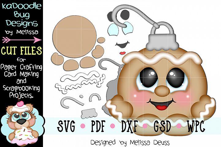 Ginger Boy Ornament Cutie Cut File - SVG PDF DXF GSD WPC