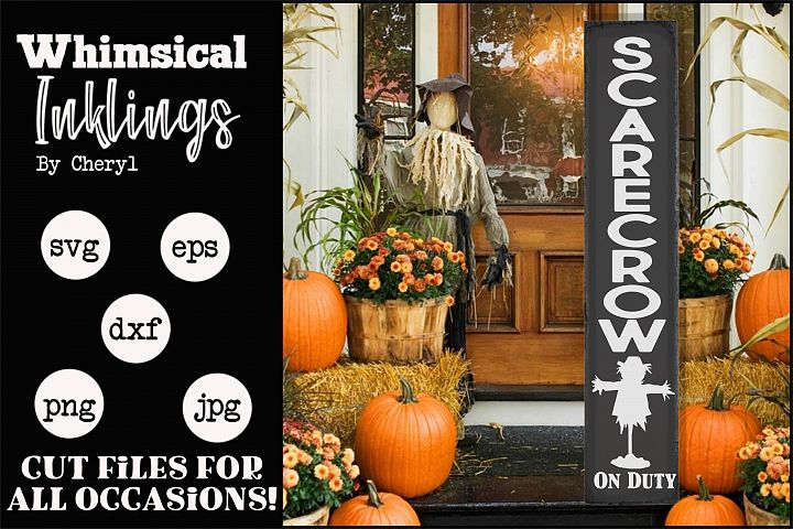Scarecrow On Duty-Vertical SVG