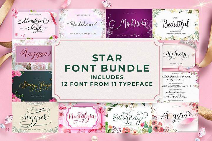 Star Font Bundle