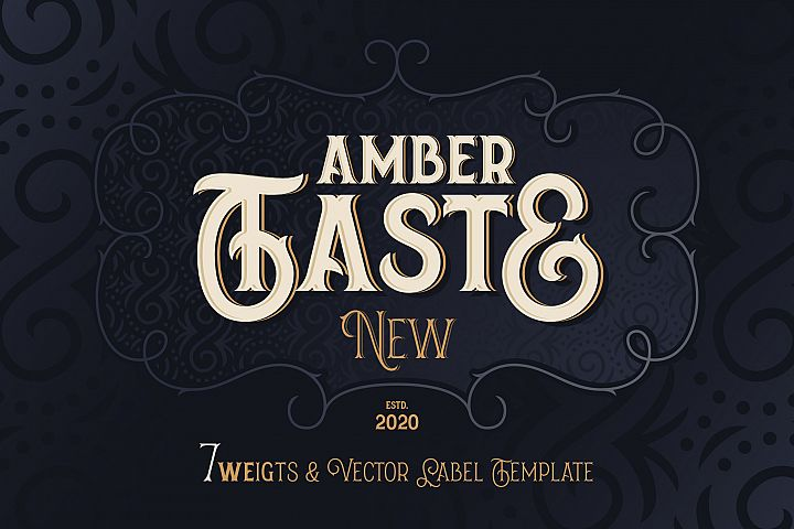 Amber Taste New! Font and Template.