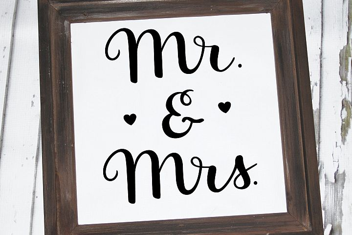 Mr. and Mrs. SVG - handlettered wedding svg example 2
