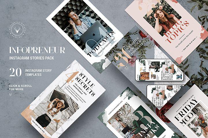 #Infopreneur - Influencer Instagram Stories Pack