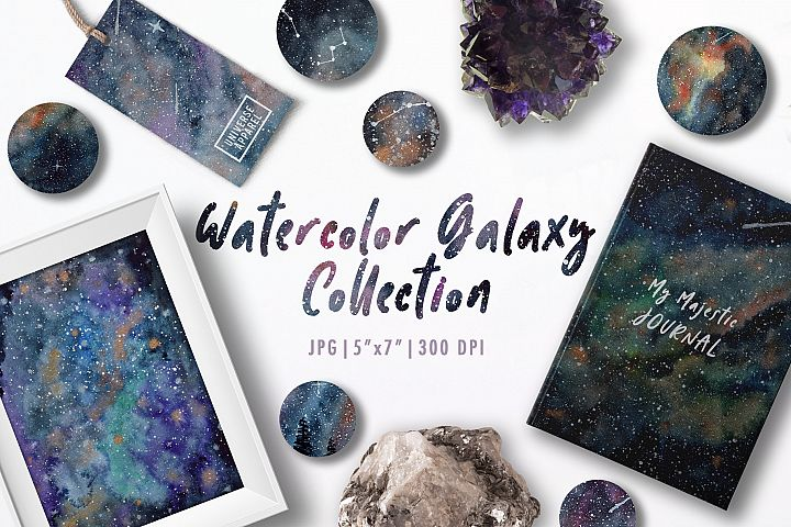 Galaxy Watercolor Collection