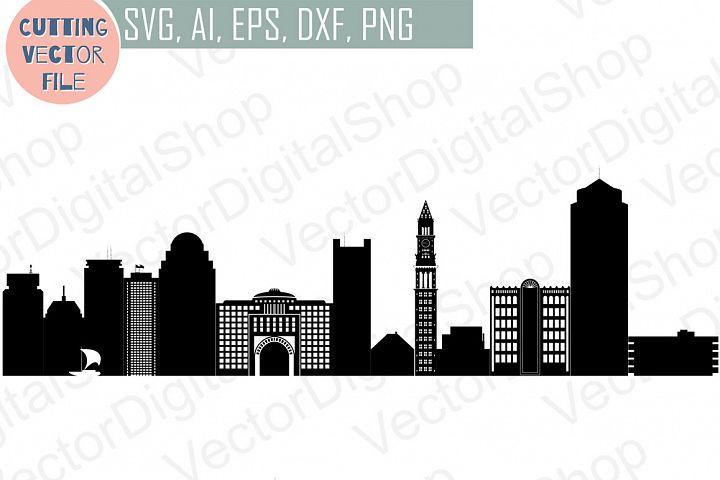 Boston Skyline Vector Massachusetts Usa City Svg Jpg Png Dwg Cdr Eps Ai 42329 Illustrations Design Bundles