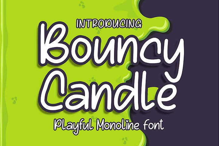 Bouncy Candle - Playful Monoline Font