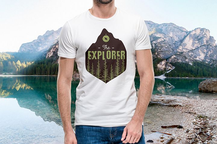 Retro Explorer Badge / Vintage Travel Logo Patch SVG Vector